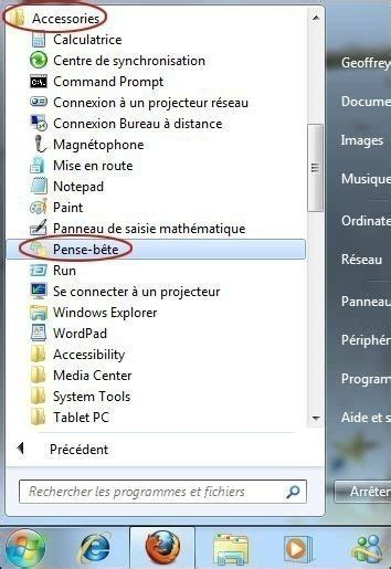 post it sur bureau windows 7 utiliser le pense bête sur windows 7