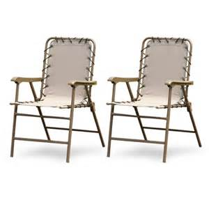 hometrends 2 pack bungee folding chair natural patio