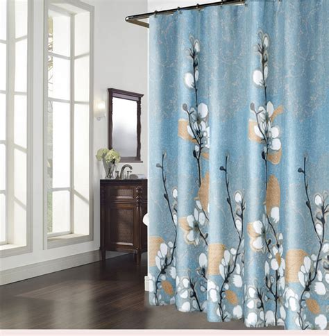 magnolia shower curtain blue magnolia polyester waterproof floral shower curtains