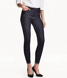 Jeans hög midja smala ben