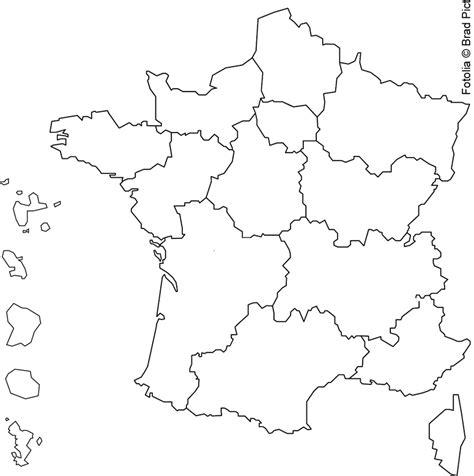 Carte vierge des principales villes françaises. Carte De France A Colorier | My blog