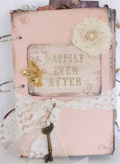 shabby chic fairytale peach happily ever after fairytale wedding guestbook fairy tale victorian country vintage shabby
