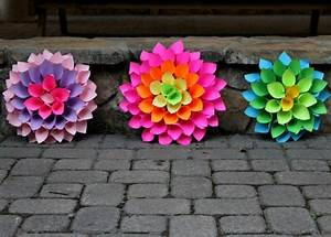 Bright & Beautiful Home Decor DIY Paper Dahlia Flowers