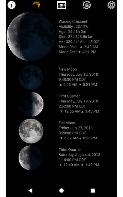 Phases Lunar Calendar Phase Widget Moon Android