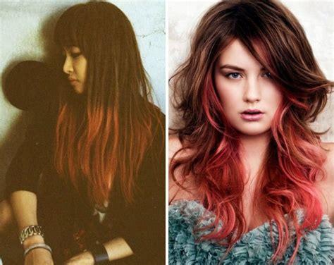 ombre braun rot rot ombre hair haar hair help spirituell