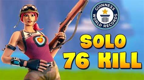 record  kill solo  player fortnite