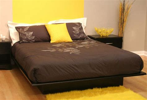 size black platform bed frame mattress bedroom cheap