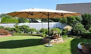 Parasol Rectangulaire Pas Cher : parasol de jardin ovale gris ou beige grande surface d 39 ombrage ~ Dailycaller-alerts.com Idées de Décoration