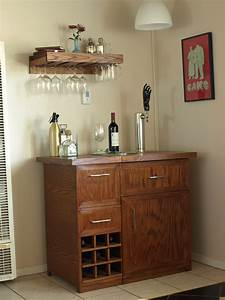 Pottery Barn Wine Bar and Kegerator Inspiration to