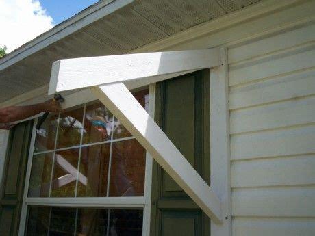 diy window awning wood bracket diy awning outdoor window awnings diy metal roof