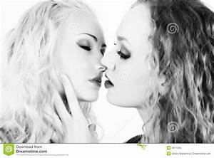 Two Kissing Girls Royalty Free Stock Photo