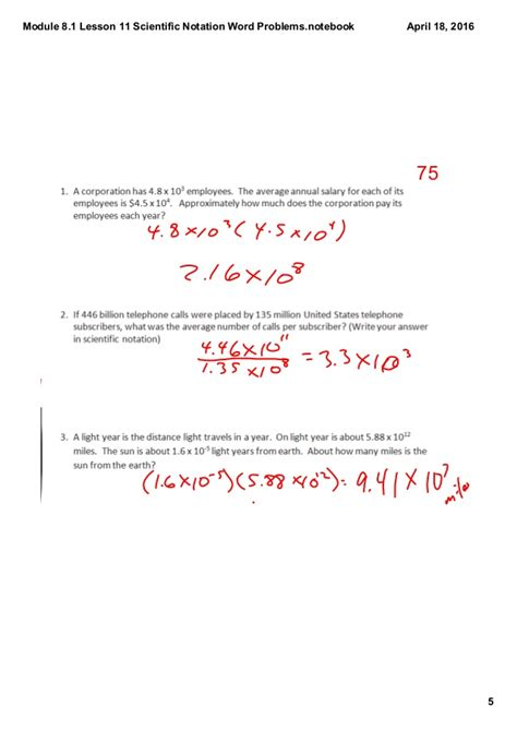 scientific notation word problem worksheet worksheets for