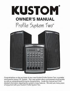Profile System Two Manuals