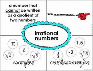 Irrational Numbers Chart