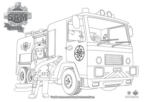 Brandweerman Sam Kleurplaat Titan by Kleurplaat Brandweerman Sam Hoorne Entertainment