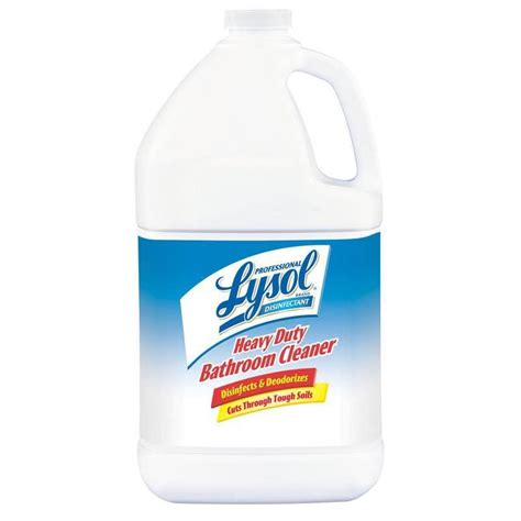 lysol power bathroom cleaner sds lysol 174 heavy duty bathroom cleaner