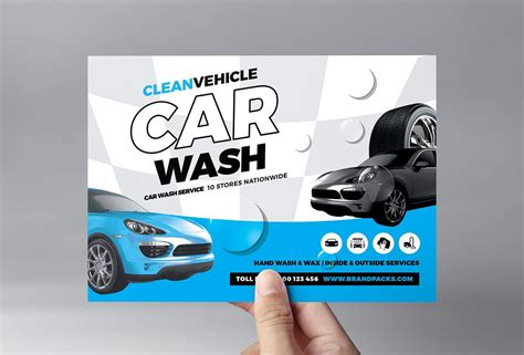 A concise goal or purpose: Car Wash Flyer Template in PSD, Ai & Vector - BrandPacks