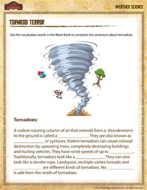 Tornado Terror  Free 4th Grade Science Worksheet  Science & Natural History Pinterest
