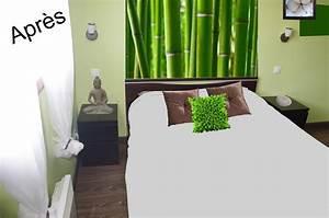deco murale chambre design chambre zen fleur de lys et With deco chambre adulte zen