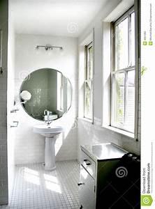 Salle De Bain Noire Et Blanche : salle de bains noire et blanche image stock image du ~ Melissatoandfro.com Idées de Décoration