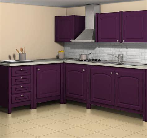plan de travail violet esprit cagne simulation avec la teinte aubergine fa 231 ades meubles la teinte cr 232 me de