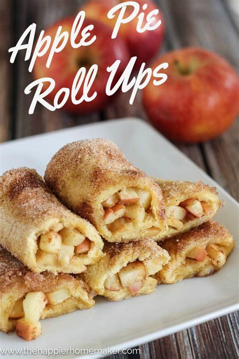 breakfast desserts easy apple pie roll ups the happier homemaker bloglovin