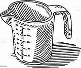 Measuring Cup Drawing Draw Sketch Cups Cooking Istockphoto Istock Drawings Drawn Sketches Arts Embed sketch template