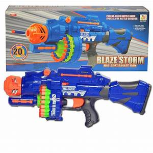 Electric Toy Gun Toy Guns 20 pcs Soft Bullet Big Gun ...