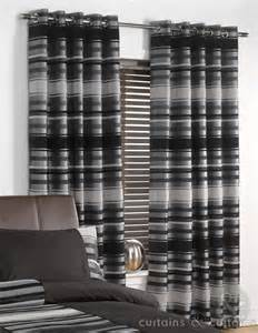 How To Select Curtains For Living Room by Chenille Striped Black Silver Ring Top Curtain Curtains