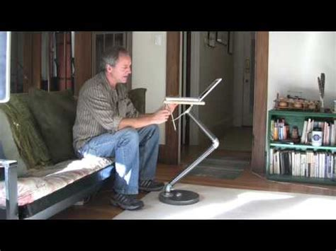swing arm laptop table build a laptop stand youtube