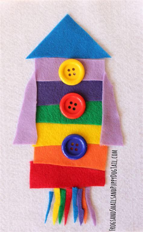 rainbow rocket felt set fspdt 799   Rainbow Rocket Felt Set for Kids