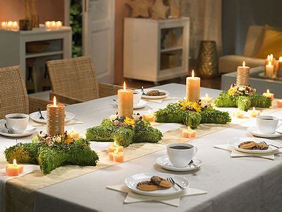 Tischdeko Für Weihnachten Gestecke In Sternform Als
