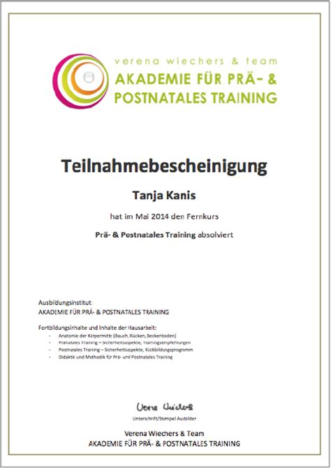 prae postnatales training akademie wiechers