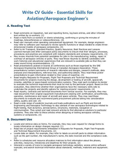 write cv guide essential skills for aviation aerospace