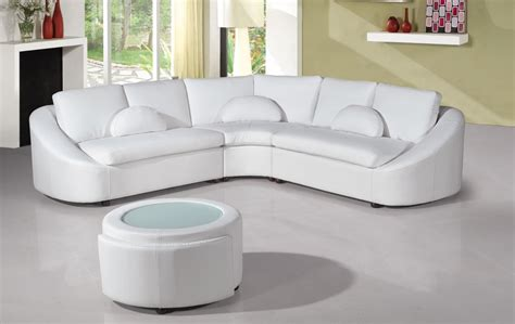 Modern White Leather Sofas by 2224 Modern White Leather Sectional Sofa