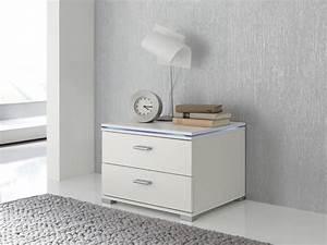 Nachttisch Mit Led : nachtkonsole nachttisch nako beistelltisch kommode wei optional led beleuchtung ebay ~ Indierocktalk.com Haus und Dekorationen
