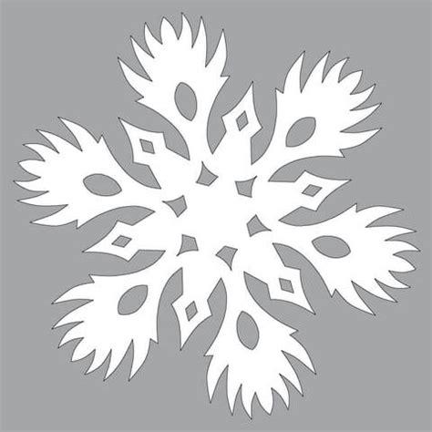 paper snowflake  burning pattern cut  template