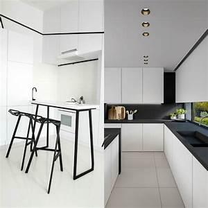 Cuisine Blanc Et Noir : cuisine blanche et noire l gance et design intemporels ~ Voncanada.com Idées de Décoration