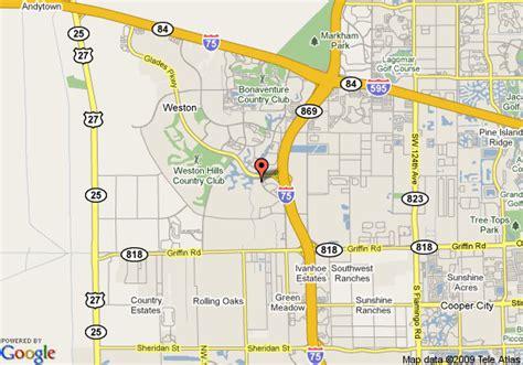 Map Of Weston Florida.Road Simple Map Weston Florida