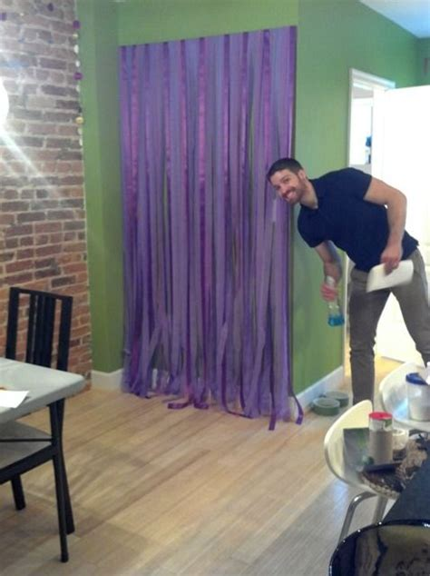 Cheap Diy Backdrop by Easy Affordable Diy Photobooth Backdrop From Ribbon