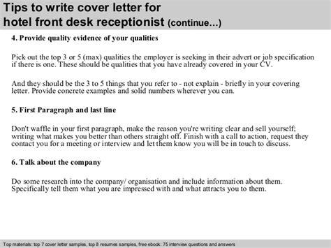front desk receptionist interview questions hotel front desk receptionist cover letter