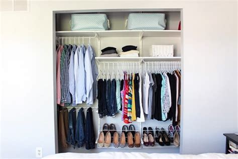 How To Organize Tiny Closet by How To Easily Organize Everything In Your Closet For Cheap