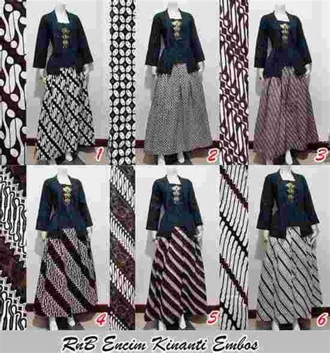 model pakaian batik setelan rok panjang busana baju