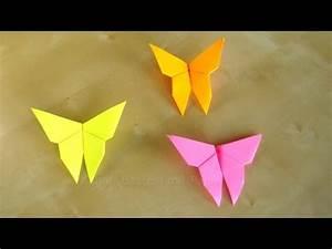 Origami Schmetterling Anleitung : basteln schmetterlinge falten einfaches diy origami geschenk basteln ideen youtube ~ Frokenaadalensverden.com Haus und Dekorationen