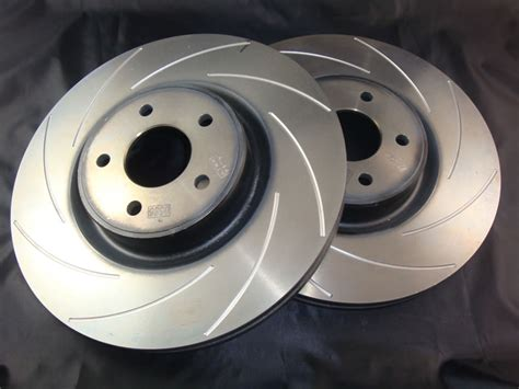 grooved front brake disc set focus rs mk jw racing