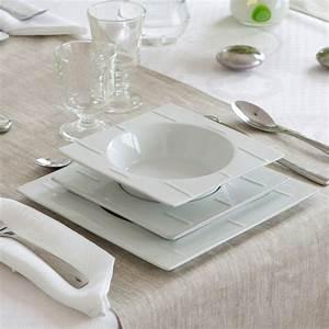 Service A Vaisselle : service de table blanc design design en image ~ Teatrodelosmanantiales.com Idées de Décoration
