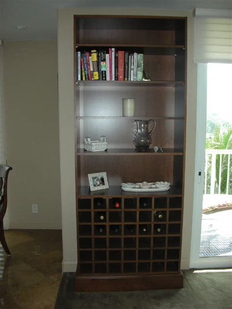 Bookcase with wine rack