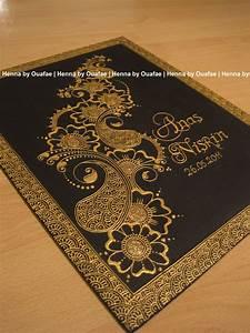 Henna Selber Machen : gold canvas by henna by ouafae bilder pinterest ~ Frokenaadalensverden.com Haus und Dekorationen