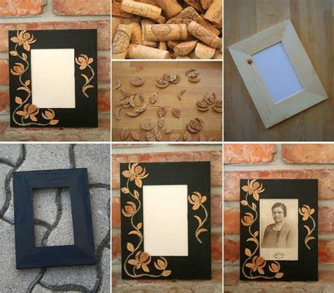 diy cork flower picture frame diy projects usefuldiycom