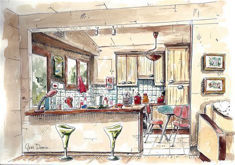 dessins cuisine aquarelles et dessins d 39 yves damin artiste